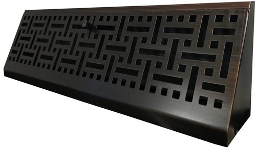 Match your wicker floor registers with this wicker baseboard in oil rubbed bronze
