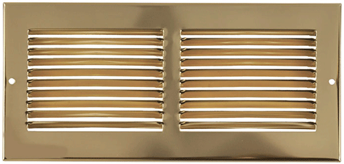 Imperial Return Air Grill - Brass Plated