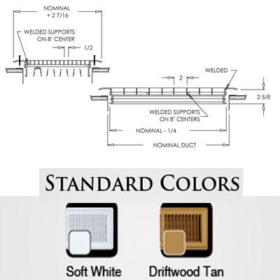 Shoemaker 1600R-0 Oversized Floor Register