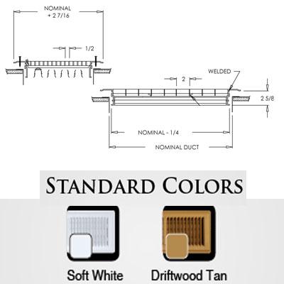 Shoemaker Wall Standard Colors
