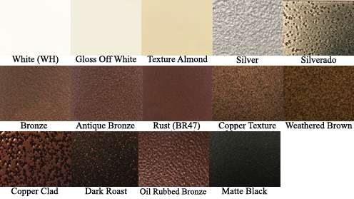 Steel Crest Finish Options