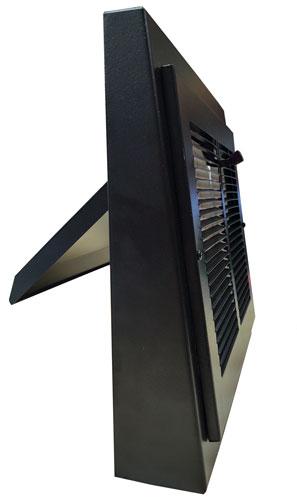 Black Basic Gravity Register - Side Open