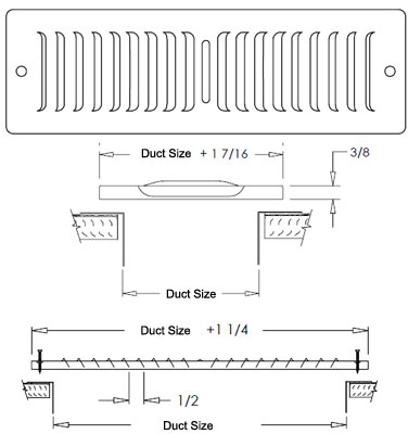 Shoemaker Submittal Drawing for Toe Space Grill