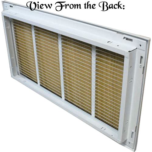 Return Air Filter Grills - Rear View