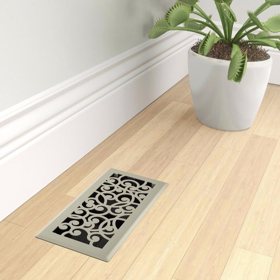 Satin Nickel Wonderland Floor Register