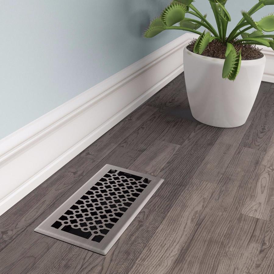 Brushed Nickel San Francisco Floor Register