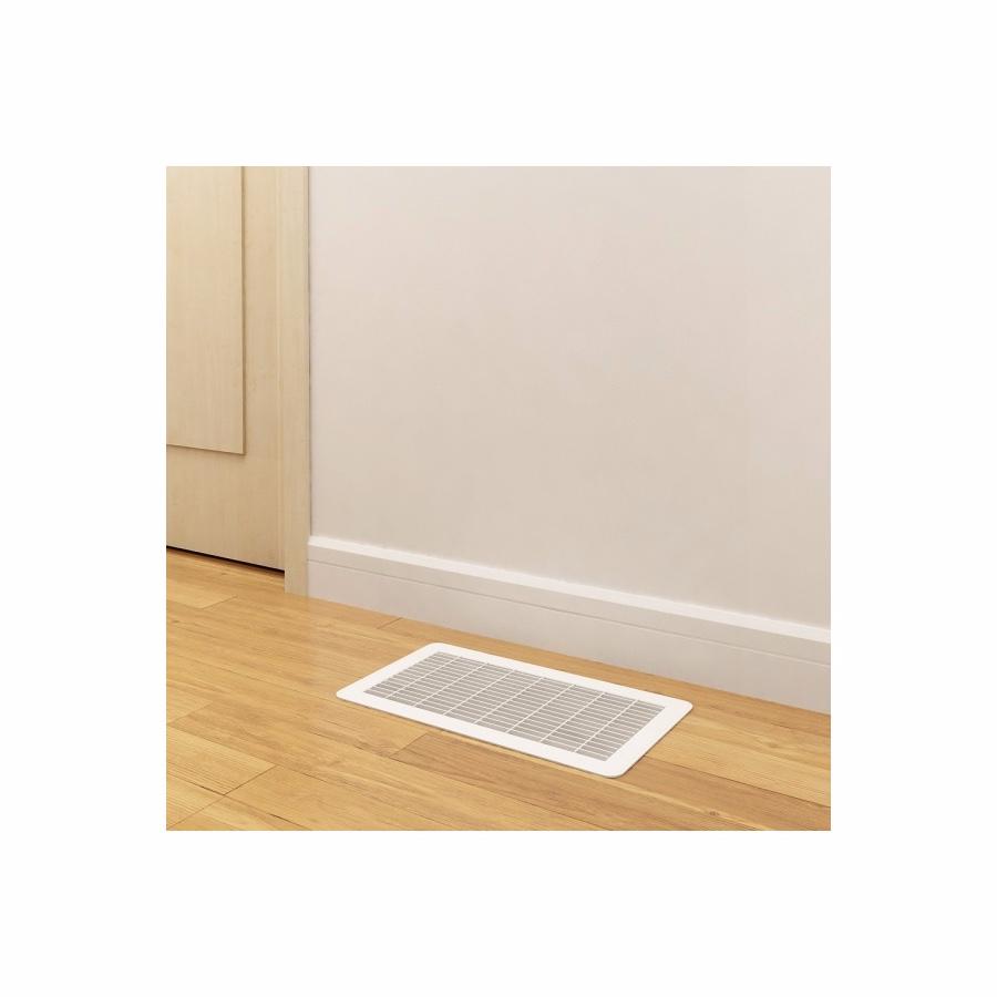 Heavy Gauge Floor Return Grille - White