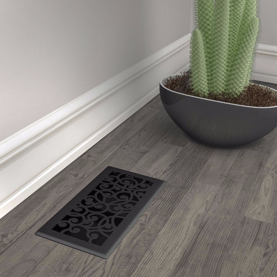 Black Iron Wonderland Floor Register
