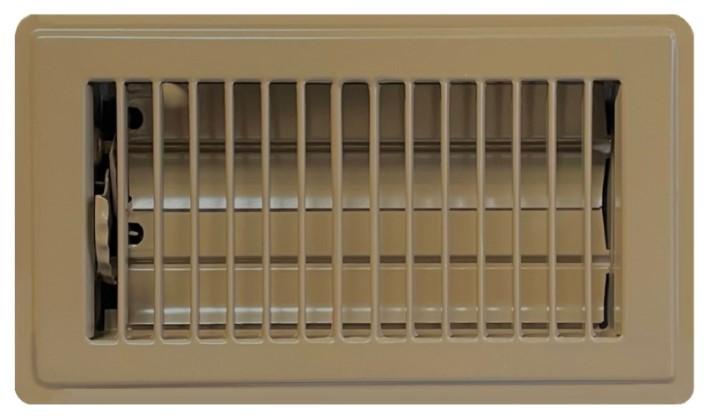 Classic Brown Floor Register - Steel