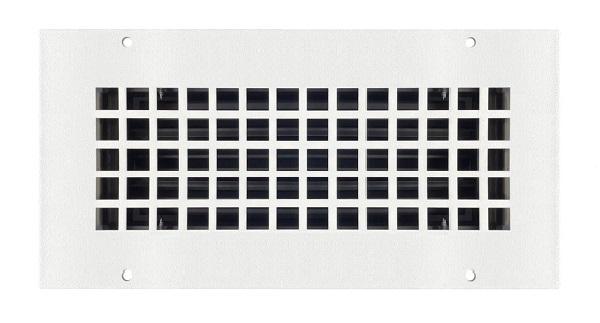 Steel Crest Bronze Series 10 x 6 Wall Register - Square, White