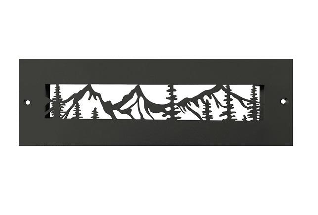 Steel Crest Gold Series 10 x 2.25 Black Wall Register - Mountain