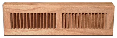 Zoroufy Wood Baseboard Diffuser - Natural Finish