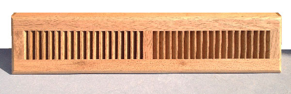 Natural Finish Wood Basebord Register
