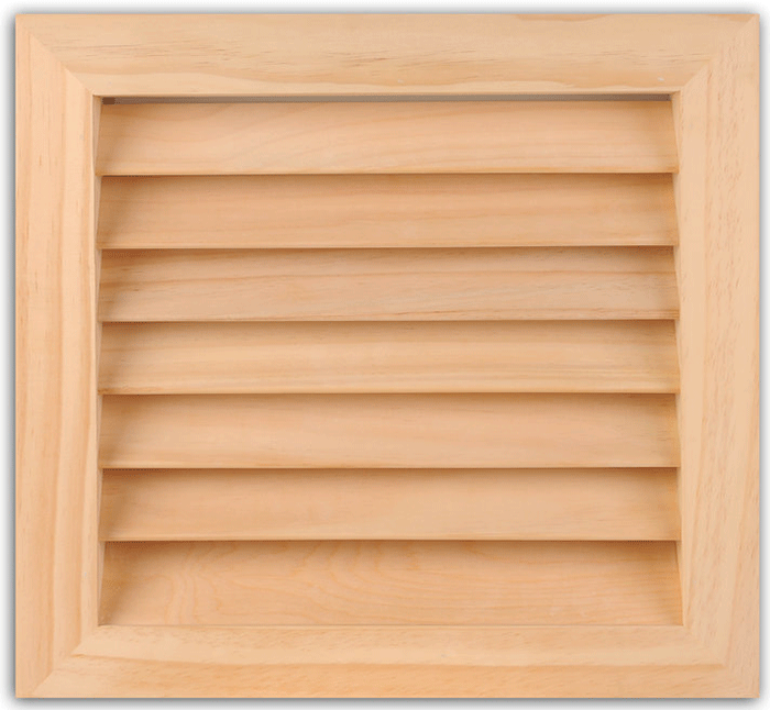 Worth Architectural Series Wood Filter Grills - Square