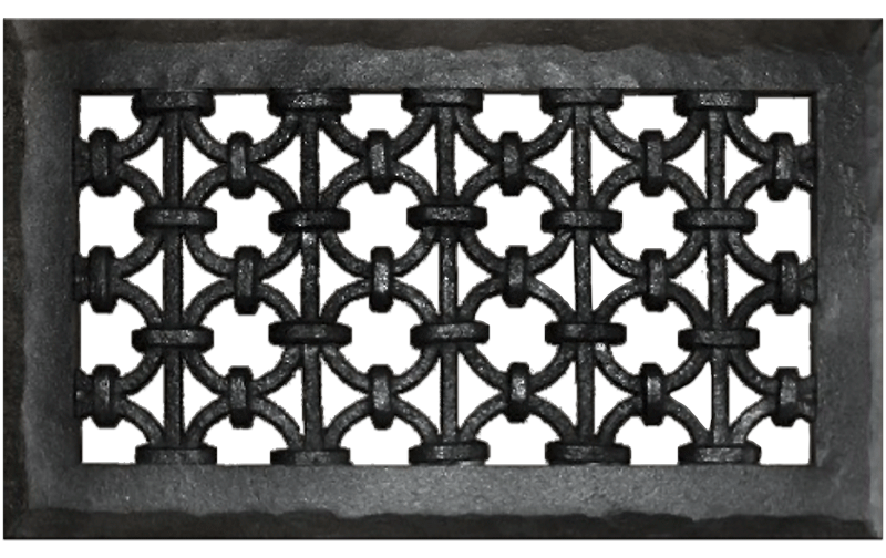 Distinguished Design Iron Ring Resin Wall Grill