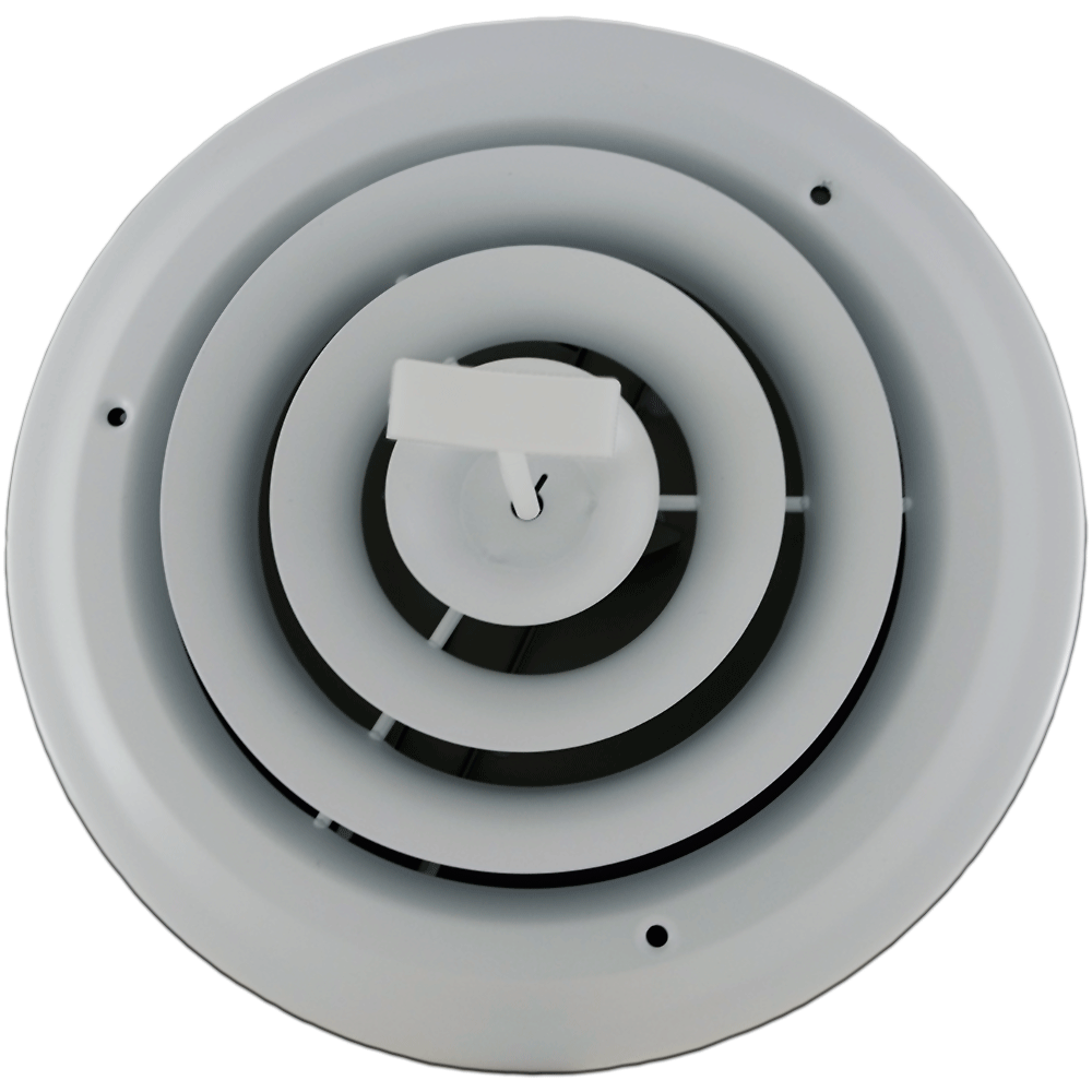 Accord White Round Register - 6 Inch