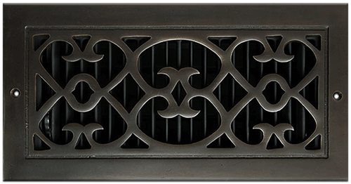 Clic Grills Renaissance Style Return Air Grill Dark Oil Rubbed Bronze