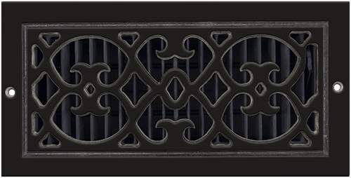 Aluminum Classic Grills Renaissance Style Return Air Grill - Brown