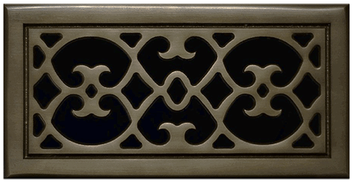 Bronze Register Louvered Wall Vent