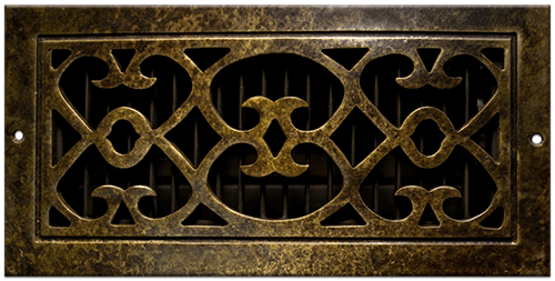 Classic Grills Renaissance Style Registers - Antique Burnished Bronze