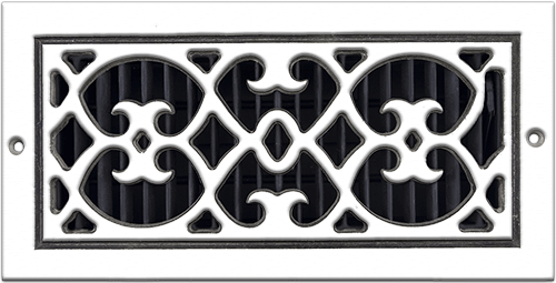 Aluminum Classic Grills Renaissance Style Registers - White