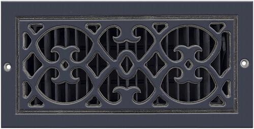 Aluminum Classic Grills Renaissance Style Registers - Black