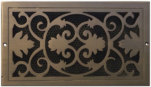 Classic Grills Victorian Themed Registers - Light Oil Rubbed Bronze Finish