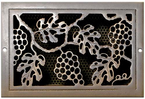 Classic Grills Grape Leaf Themed Registers - Light Oil Rubbed Bronze Aluminum