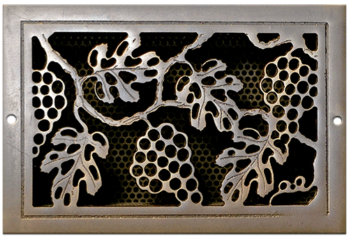 Classic Grills Grape Leaf Themed Registers - Light Oil Rubbed Bronze