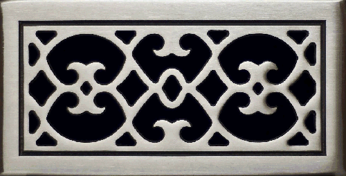 Classic Grills Renaissance Themed Registers - Approx. White Bronze Finish