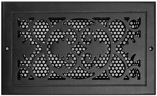 Classic Grills Victorian Themed Registers - Black Painted Aluminum