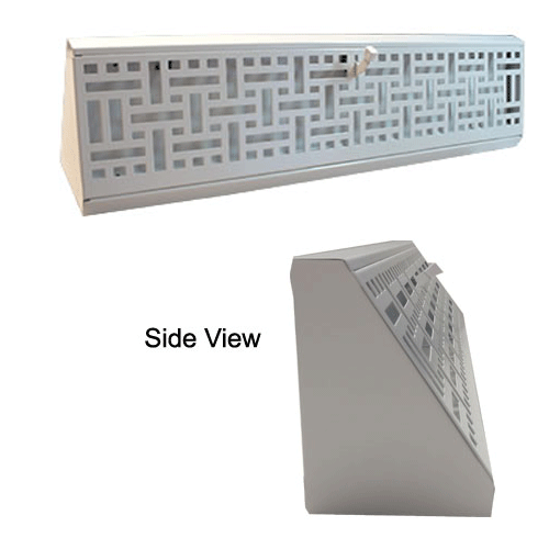 Decorative White Wicker Baseboard Vent