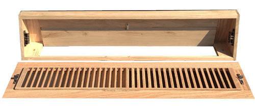 Zoroufy Wood Baseboard Diffuser - Open