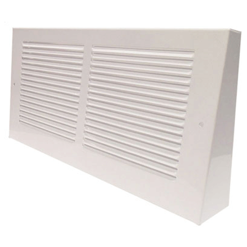 Triangular Projection Baseboard Grill White