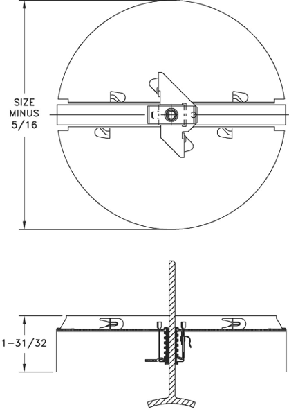 Detailed Image of 3800 series Butterfly damper