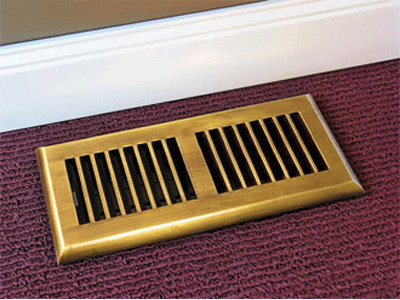 Plastic Decorative Floor Register - Rust Proof