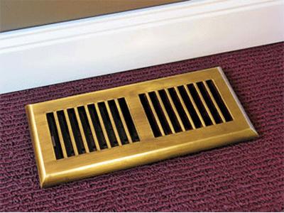 Contemporary Floor Registers Plastic Air Vent