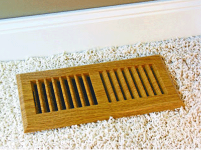 Plastic Oak Floor Register - Rust Proof