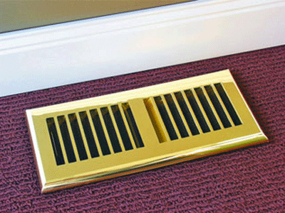 Plastic Brass Decorative Floor Register