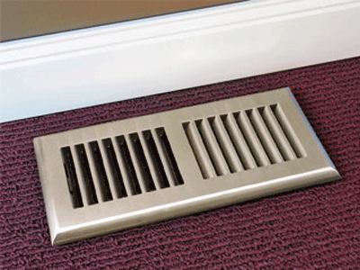 Plastic Nickel Decorative Floor Vent