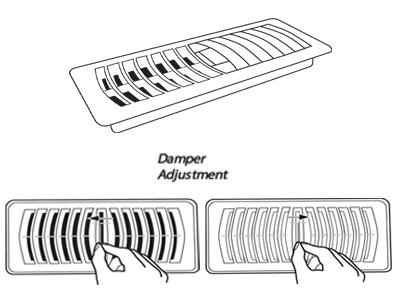 Plasctic Floor Register by Deflecto