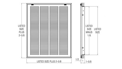 Filter Grille Submittal Drawing
