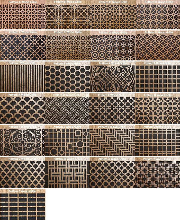 Round Wood Wall Grille Decoartive patterns