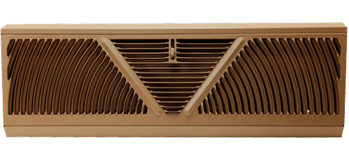 Shoemaker 857 Baseboard Register - Golden Sand Finish