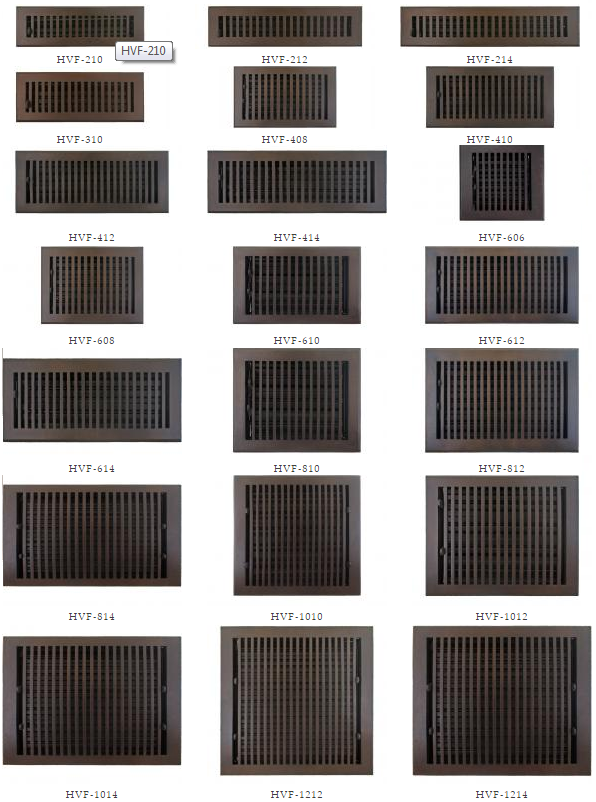 Other large and odd sized floor vent and return sizes for 10 x 14 floor register