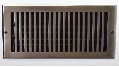Flat Nickel Wall Register - Hamilton Sinkler