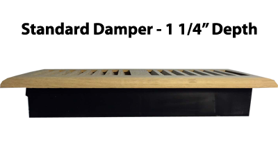 Wood Floor Register - Standard Damper