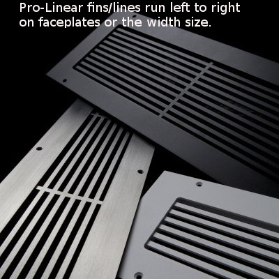How the line run on linear series grill