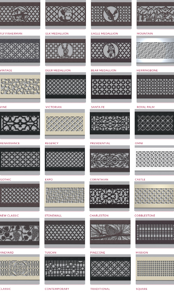 Steel Crest Styles for wall grills