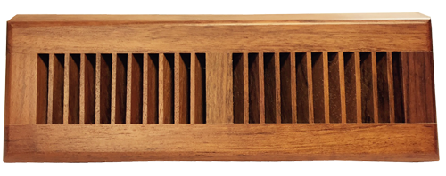 Brazilian Cherry Baseboard vent - natural finish